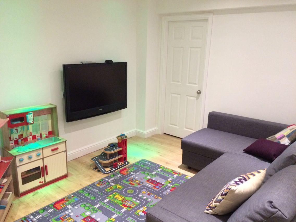 Playroom Ikea Grey Corner Sofa Bed B Q Play Mat Asda George