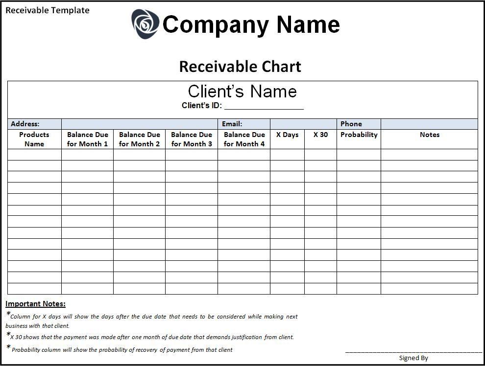 7 Receivable Templates Word Excel Pdf Templates Word Template Invoice Template Notes Template