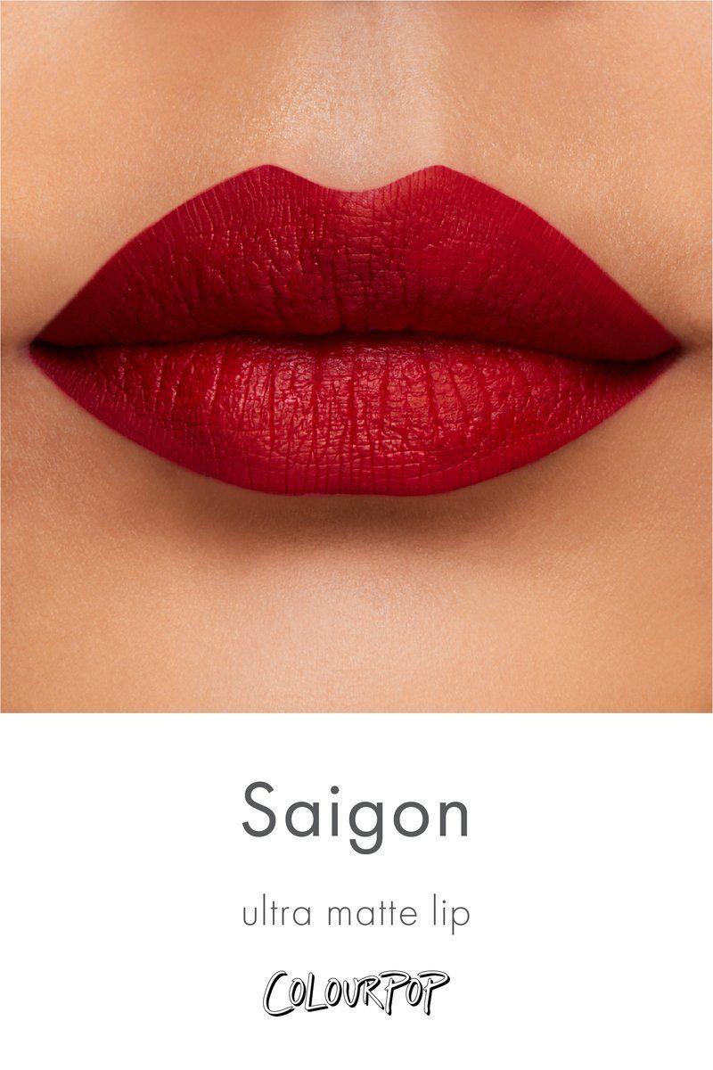 Saigon Vibrant Warm Toned True Red Ultra Matte Lipstick Swatch On Medium Skin Lippencilandlipstickcombo In 2020 Lips Lipstick Skin Moisturizer