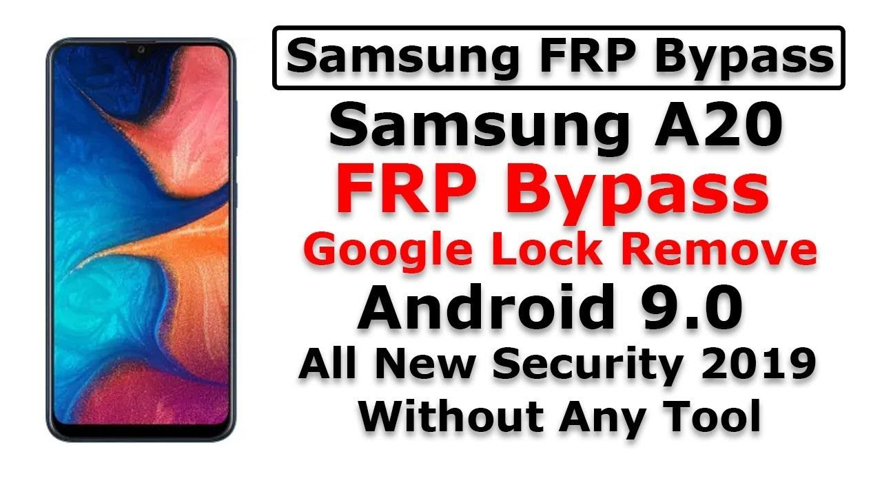 Samsung A20 frp bypass Android 9.0 All new security