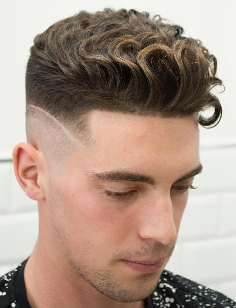 Curly Undercut with a Disconnected Fade Menshairstyles