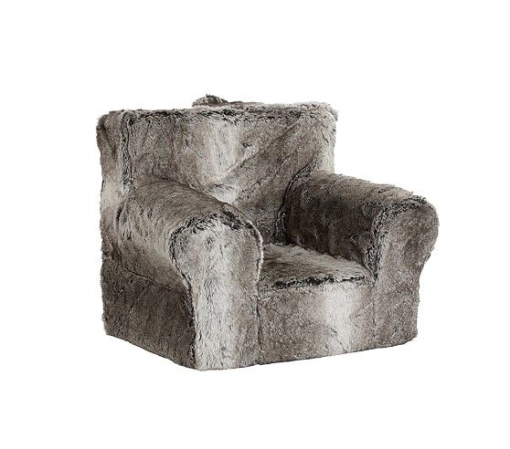 Gray Ombre Faux Fur Anywhere Chair Pottery Barn Kids