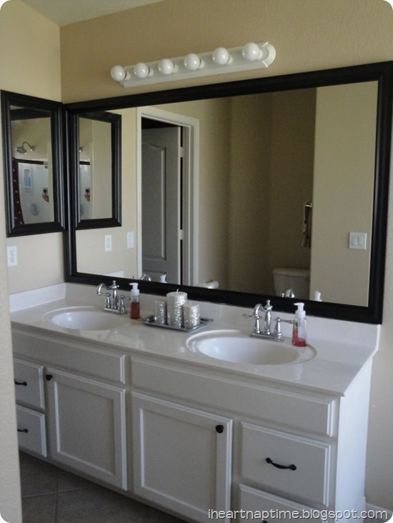 Framing A Bathroom Mirror | Framing Your Bathroom Mirror | Handy Girl.