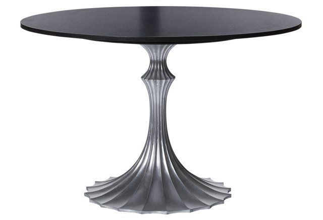Flute 48 Round Dining Table Black By Emporium Home At One Kings