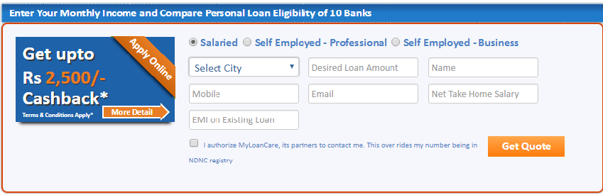 Check Your Personal Loan Eligibility With Myloancare Personal Loan Eligibility Calculator We Calculate Personal Loans Loan Interest Rates Loans For Bad Credit
