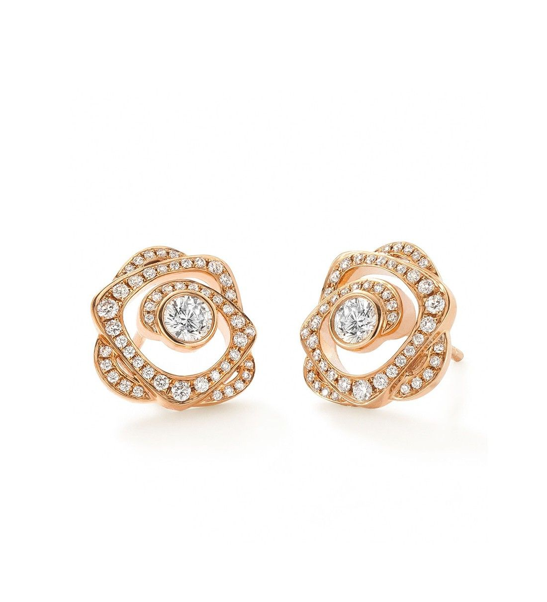 Maymay Rose Gold Diamond Earrings . 18ct rose gold with diamonds ...