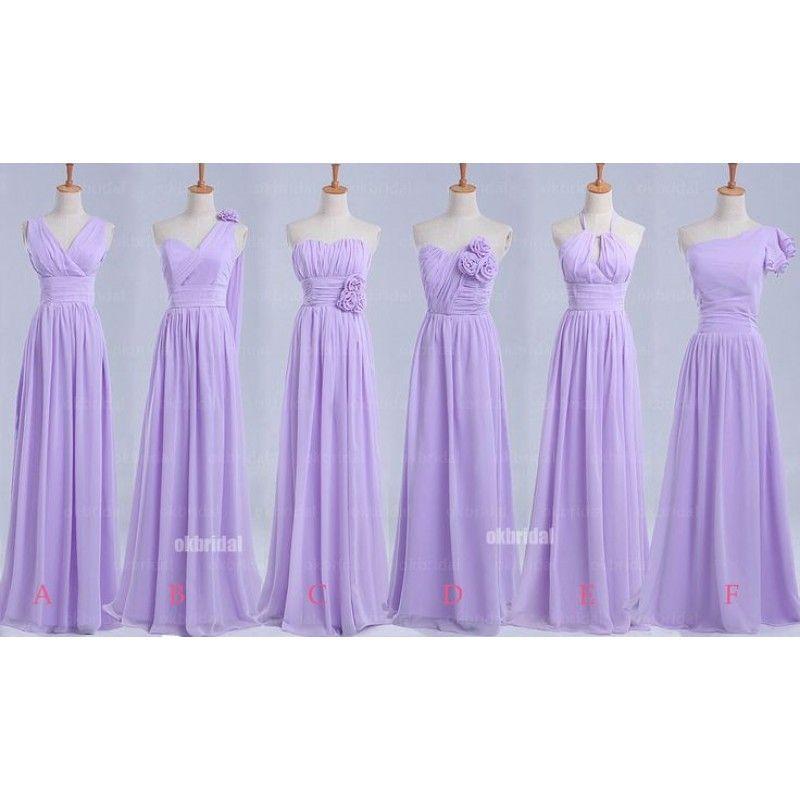 long bridesmaid dresses, lilac bridesmaid dresses
