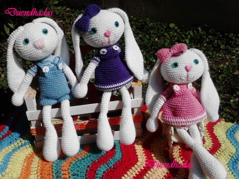 Patrón Amigurumi conejito orejas largas en crochet | Crochet ...