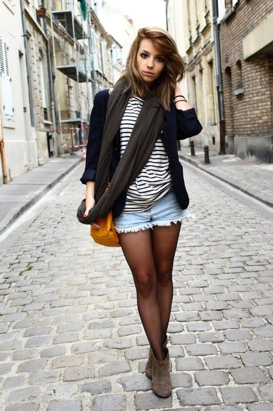 Not gonna lie...I like tights with shorts sometimes. its seems very chic