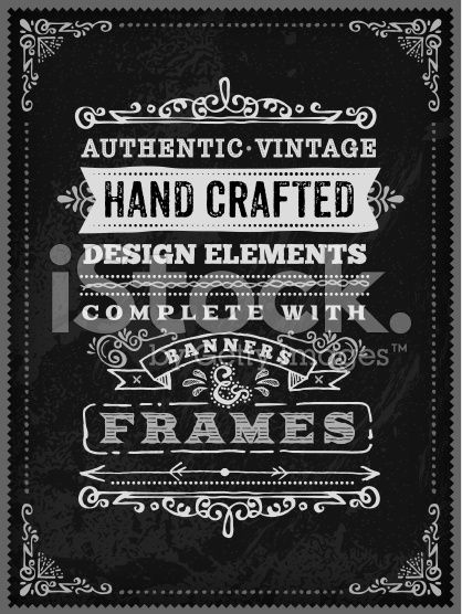 A hand drawn chalk poster template. EPS 10 file, with transparencies ...