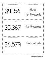 Place Value Flash Cards - Ones, Tens, Hundreds, Thousands, Ten ...