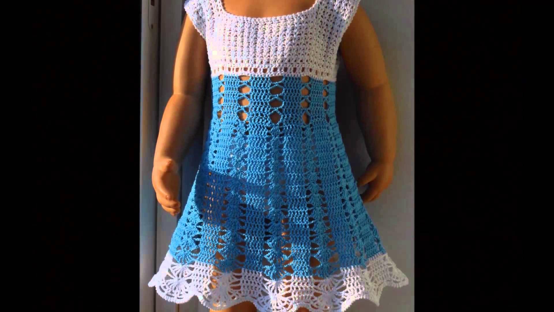5d1d87fd0 Vestidos tejidos a crochet para niñas de 5 y 6 años