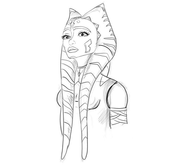 Star Wars Coloring Pages Ahsoka Star Wars Prints Star Wars