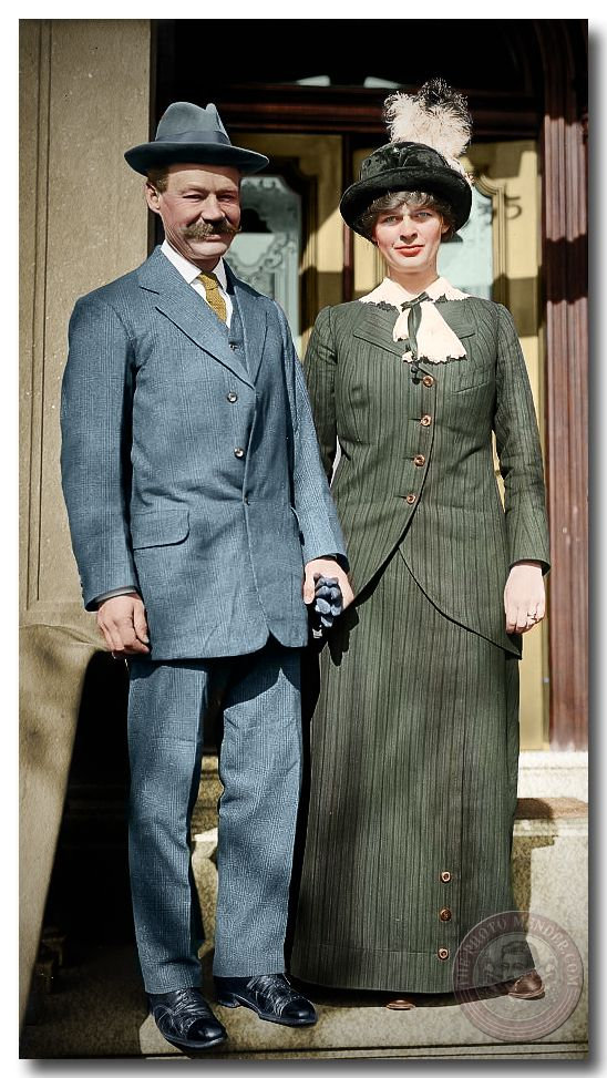 Latest restoration. Sir Wilfred Grenfell and his wife Anne MacClanahan circa 1915