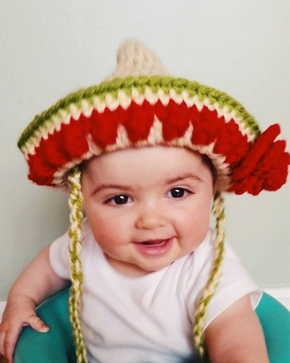 Baby Toddler Adult Cinco de Mayo Mexican Sombrero by GrannyPurrl ... a09aa38f30c