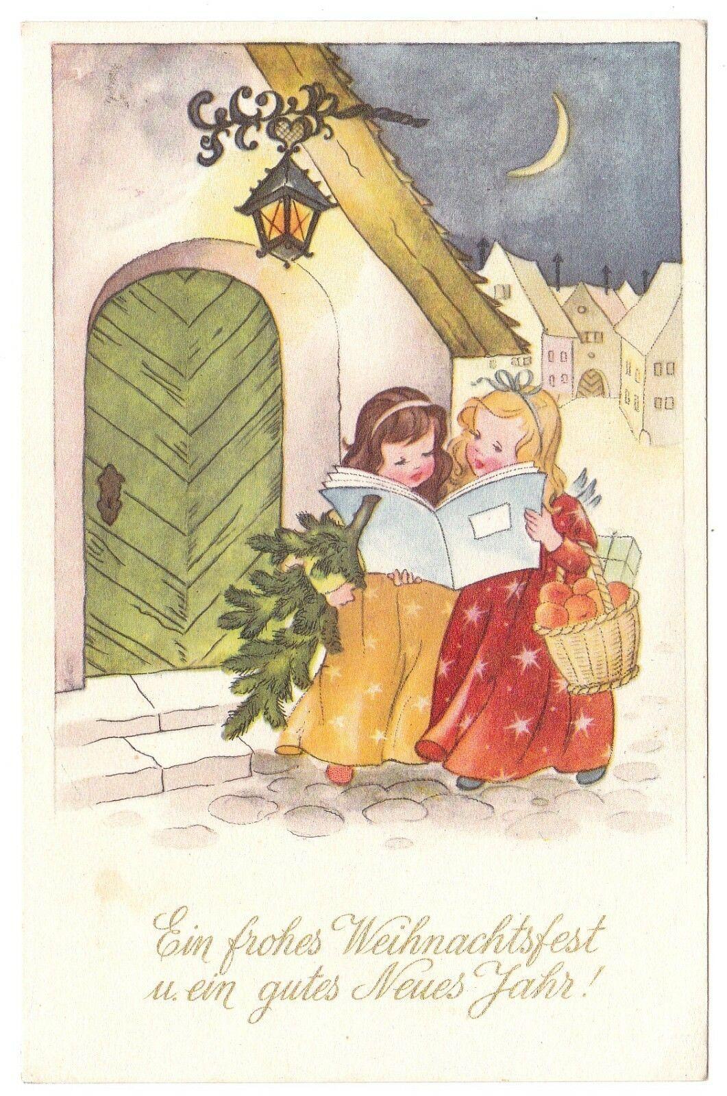 Buon Natale Arte.Angioletti Anges Engel Buon Natale Buon Anno Bonne Annee Neve Angeli Ebay Biglietti Di Natale Vintage Illustrazione Di Natale Immagini Di Natale