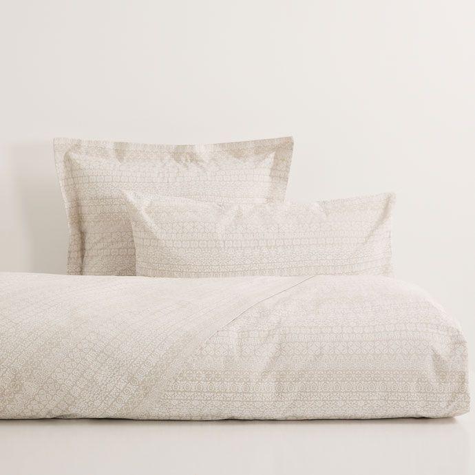 sábanas y fundas mini estampado beige   beige y estampado
