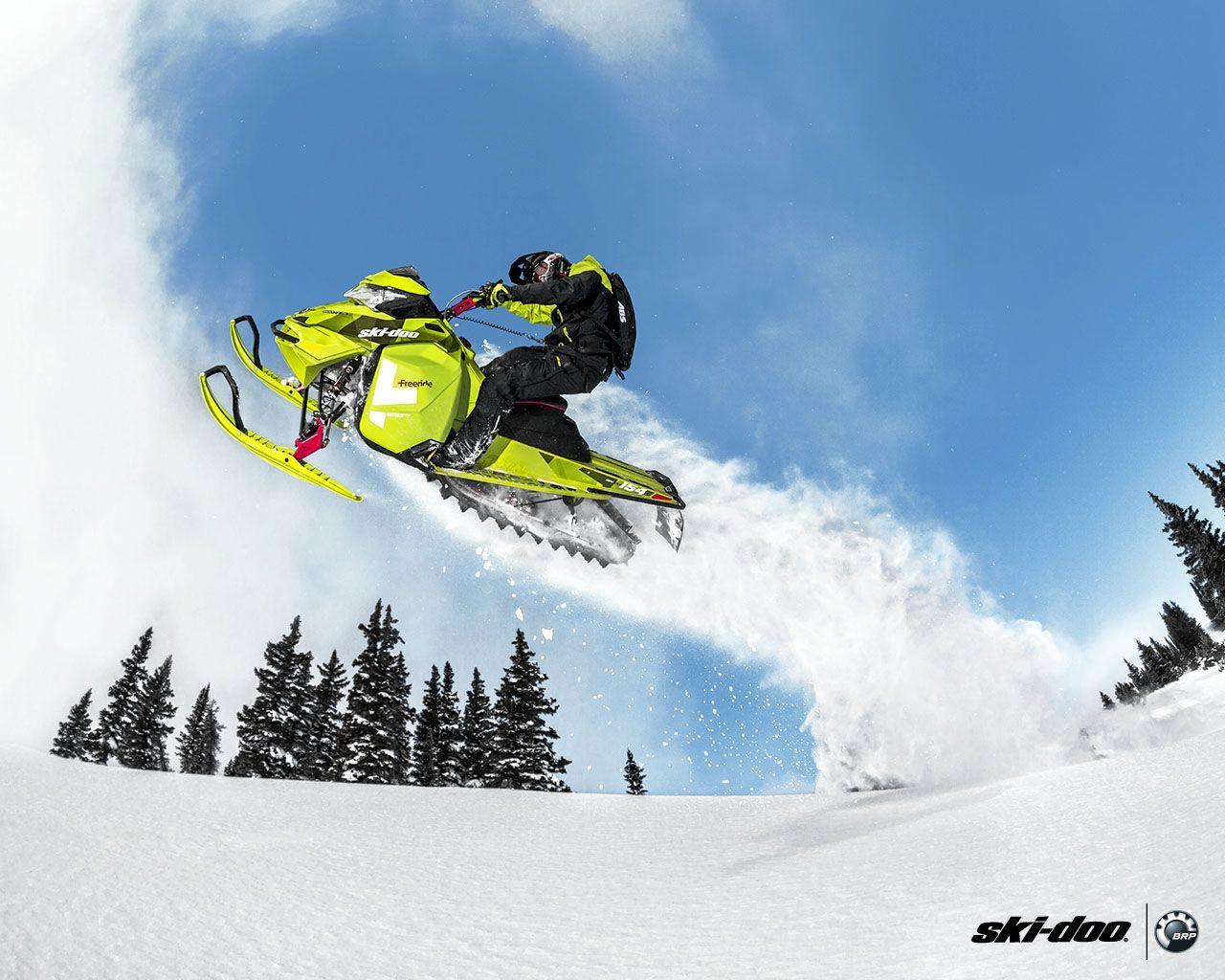 Awesome Shot Of A Ski Doo Jump