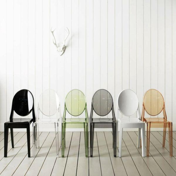 les chaises transparentes et l 39 int rieur contemporain. Black Bedroom Furniture Sets. Home Design Ideas