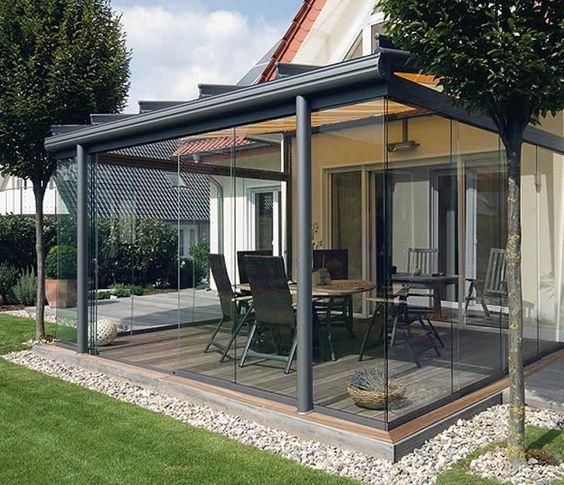 Terraza con deck de madera p rgolas pinterest decks pergolas and patios - Hout pergola dekking ...