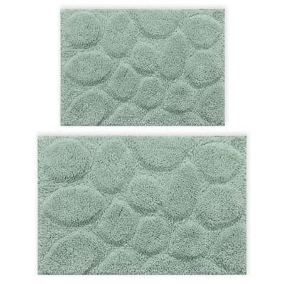 Palm 2 Piece 20 X 30 And 24 X 40 Bath Mat Set In Sage Bath