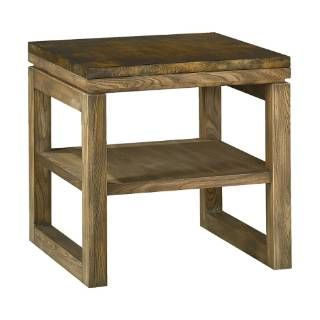 Check out the Hammary 196-915 Spaces Square End Table in Natural Dirftwood with Antique Copper Tin Top