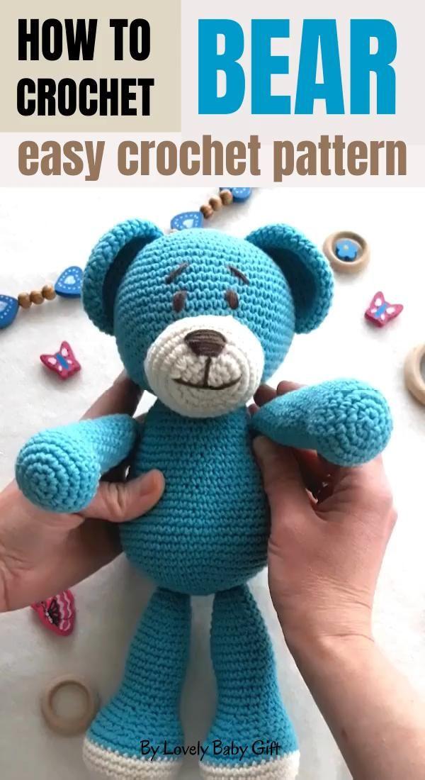 Easy Crochet pattern to Make Teddy Bear Animal Toy