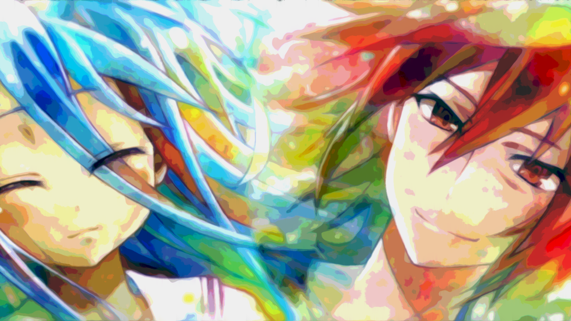 Anime No Game No Life Colorful Bright Anime Shiro No Game No Life Sora No Game No Life Wallpaper Anime No Game No Life Happy Tree Friends
