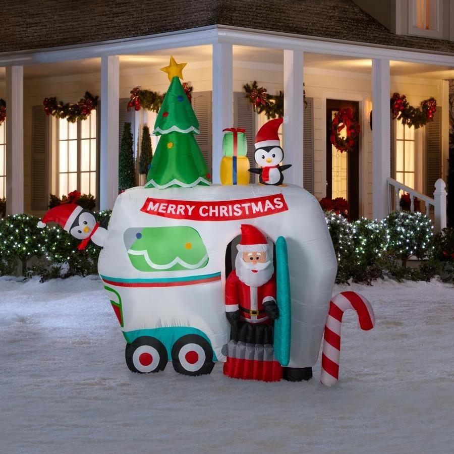 Holiday Living 8 99 ft Animatronic Lighted Santa Christmas