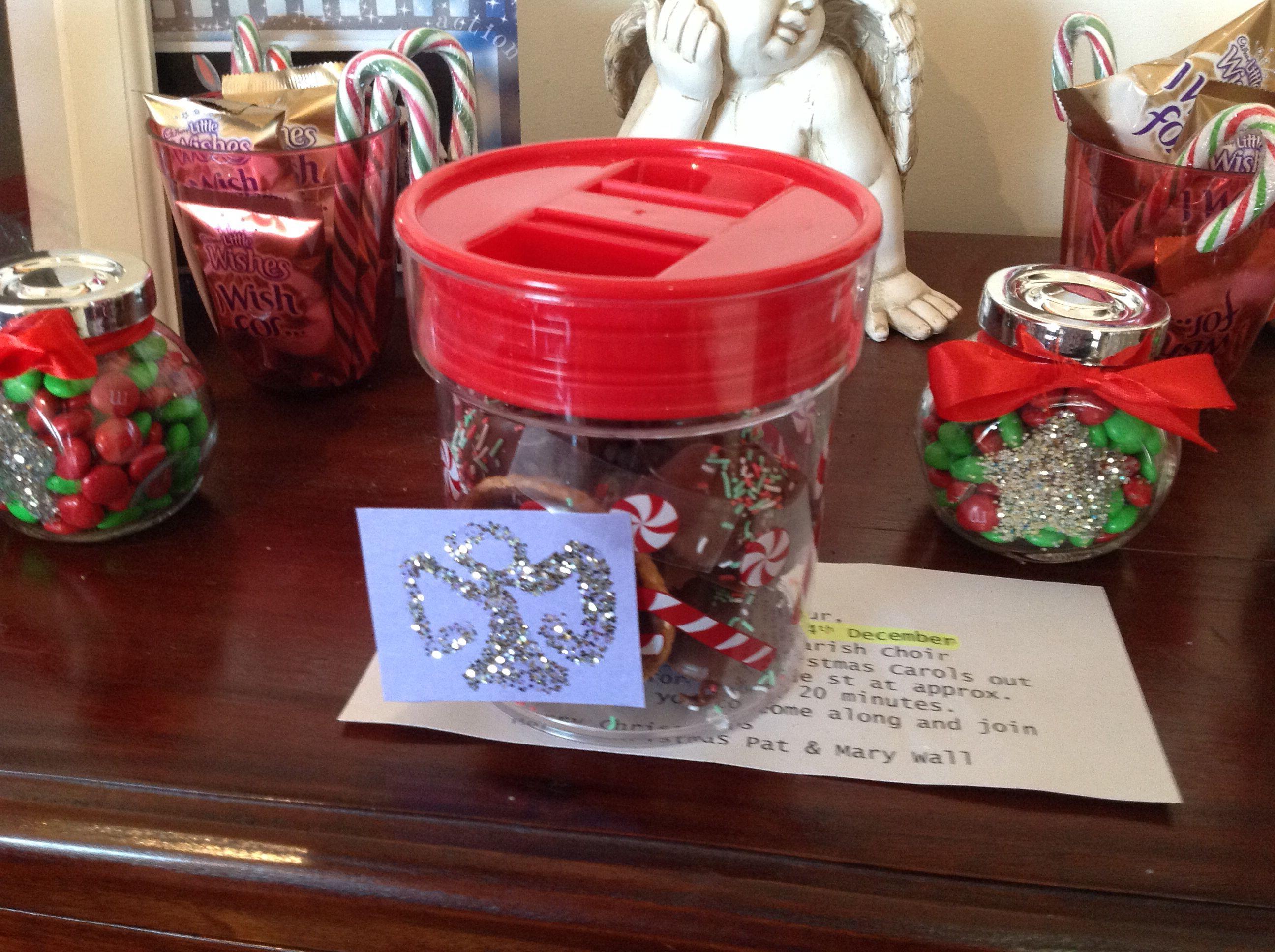 Tim Tam Truffles in jar for school receptionists