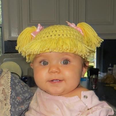 Cabbage Patch Knit Hat With Fringe And Pigtails Pattern : Best 25+ Cabbage patch babies ideas on Pinterest Cute baby girl photos, Cut...