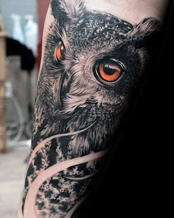 Owl Tattoo Forearm Design