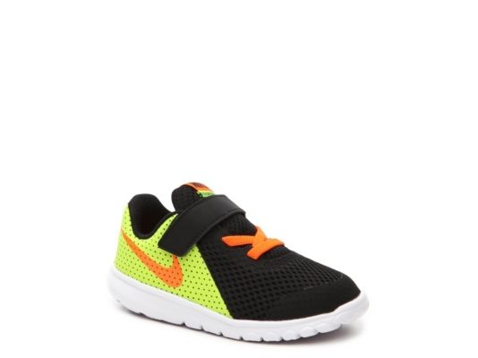 Men's Nike Flex Experience 5 Boys Infant & Toddler Running Shoe -  Black/Yellow/