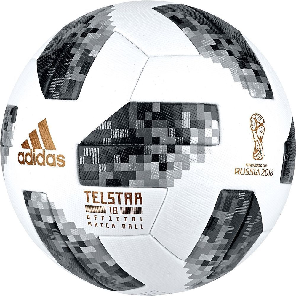 Fifa Adidas Telstar Russia 2018 World Cup Official Match Ball Replica Gold Mark Leathers Presents Fifa Adidas Telstar Rus Russia World Cup Soccer Soccer Balls