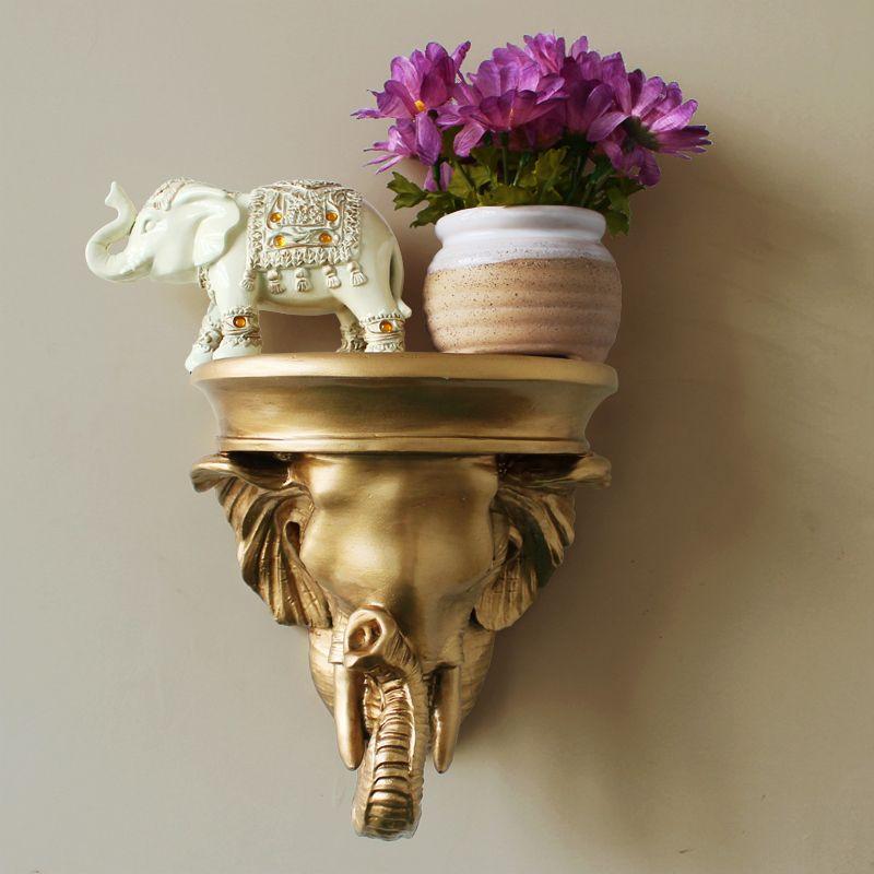 Decorative Wall Mounts | Fashion resin elephant wall mount wall ...