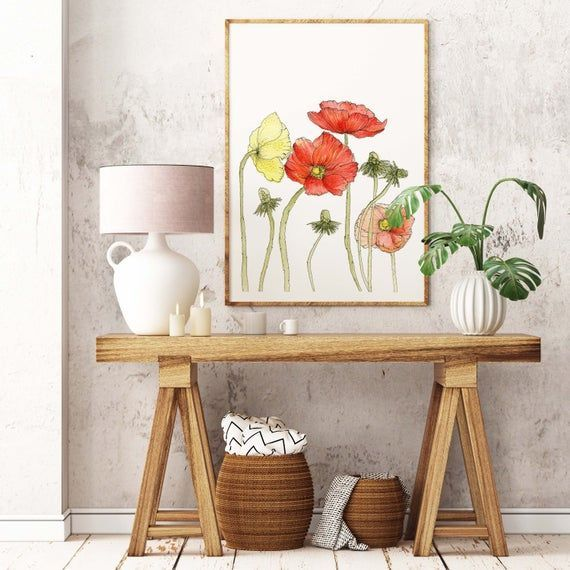 WATERCOLOR Poppies,HandPainted/Illustrated Poppy Flowers Printed on Linen Paper,5x7 8x10 11x14,Unique Gift,Poppy Wall Art,Wall Decor,Dorm,  #11x14Unique #8x10 #ArtWall #DecorDorm #Flowers #GiftPoppy #Linen #Paper5x7 #PoppiesHandPaintedIllustrated #Poppy #Printed #Rugsusacoupon #wall #Watercolor