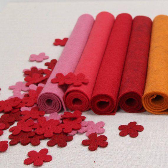 Wool Felt Geranium Benzie Design Benzie Felt Wool Felt Etsy Felt Crafts Felt Flowers Fabric Flowers
