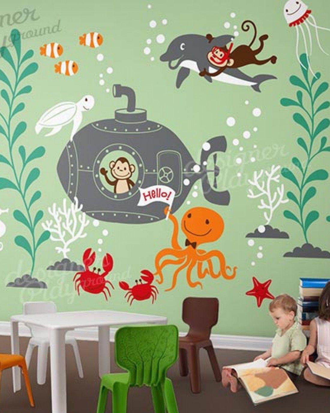 The Great Underwater World Kinderzimmer deko junge