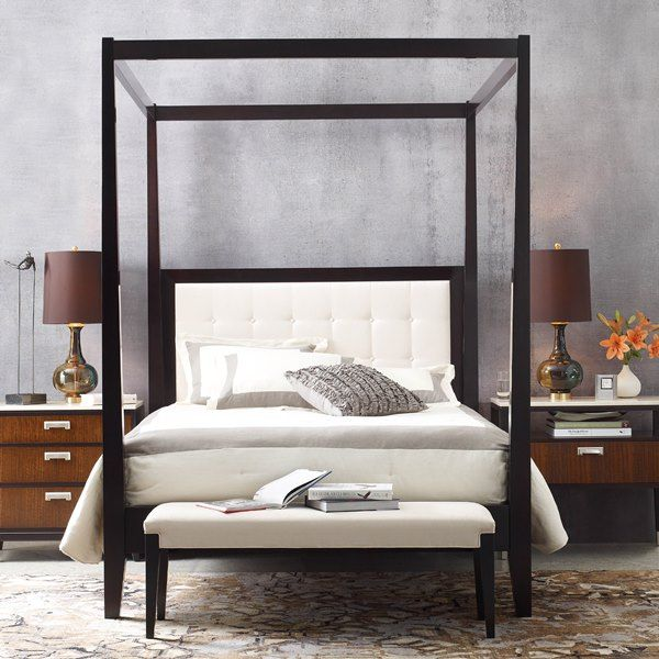 Best Stickley Uptown Tall Post Bed With Canopy Bedroom 400 x 300