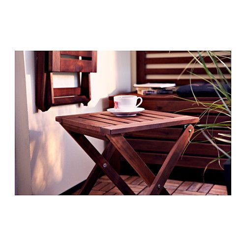 Pplar taburete ext plegable tinte marr n terrazas for Taburete plegable ikea