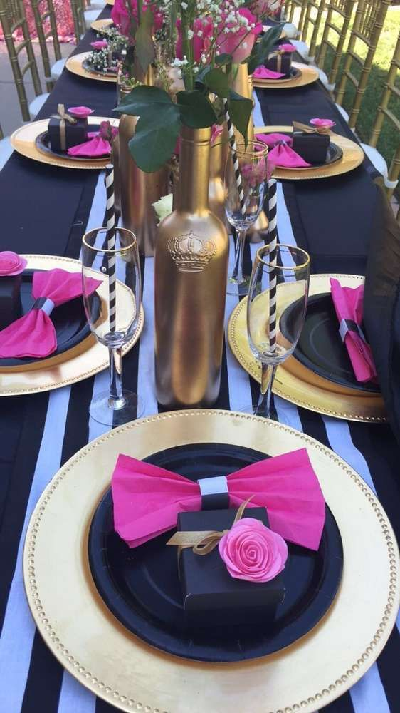 557a283a2b43 Floral-Kate-Spade-Inspired-Bridal-Shower-Bottle-Vases. Perfect wedding  shower brunch decorations ...