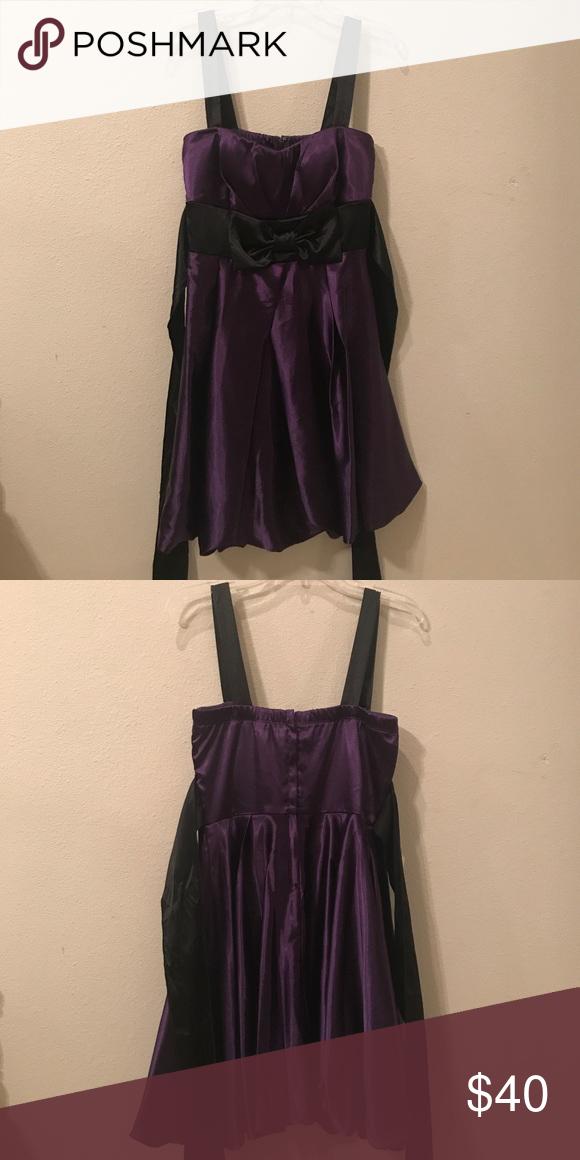 Purple formal dress Beautiful purple and black dress. Worn once Speechless Dresses Prom