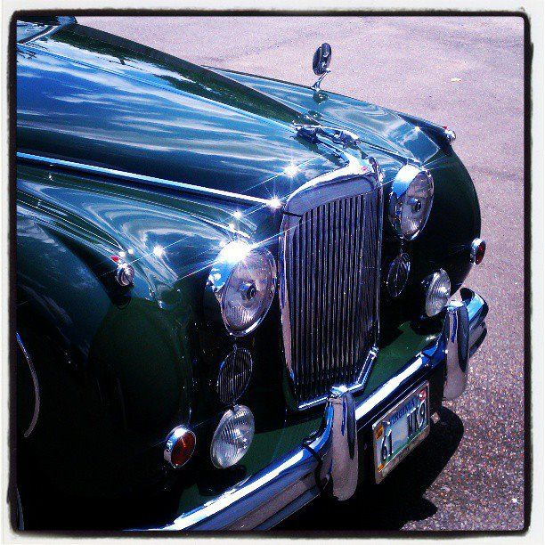 1958 Jaguar in for a detail . A truly rare and beautiful car .