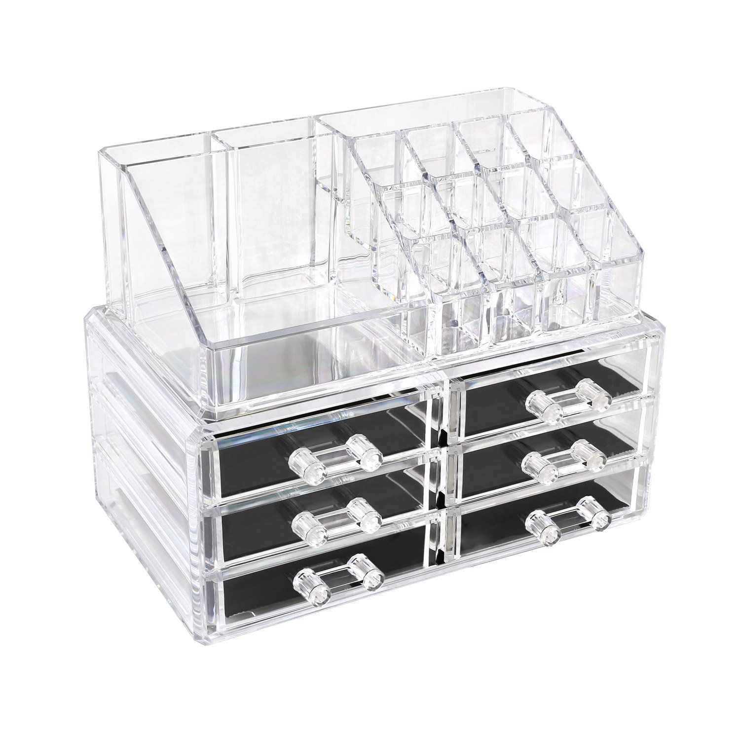 MVPOWER Clear Acrylic Cosmetic Organizer Display Stand Makeup ...