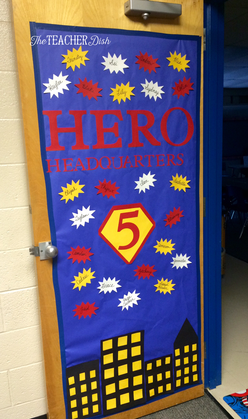 Super Heroes Decor For Classroom : The teacher dish it s going to be a super year in th