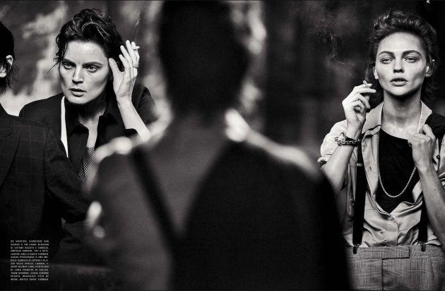 "cool Peter Lindbergh assina o editorial ""Lunch in Brooklyn"" da Vogue Itália Maio 2015 [Fashion]"