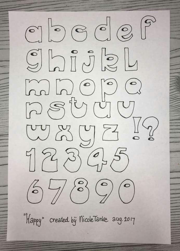 Hand Lettering Alphabet Letters Bullet Journal Inspiration Font Craft Creative Bujo Handwriting Journaling