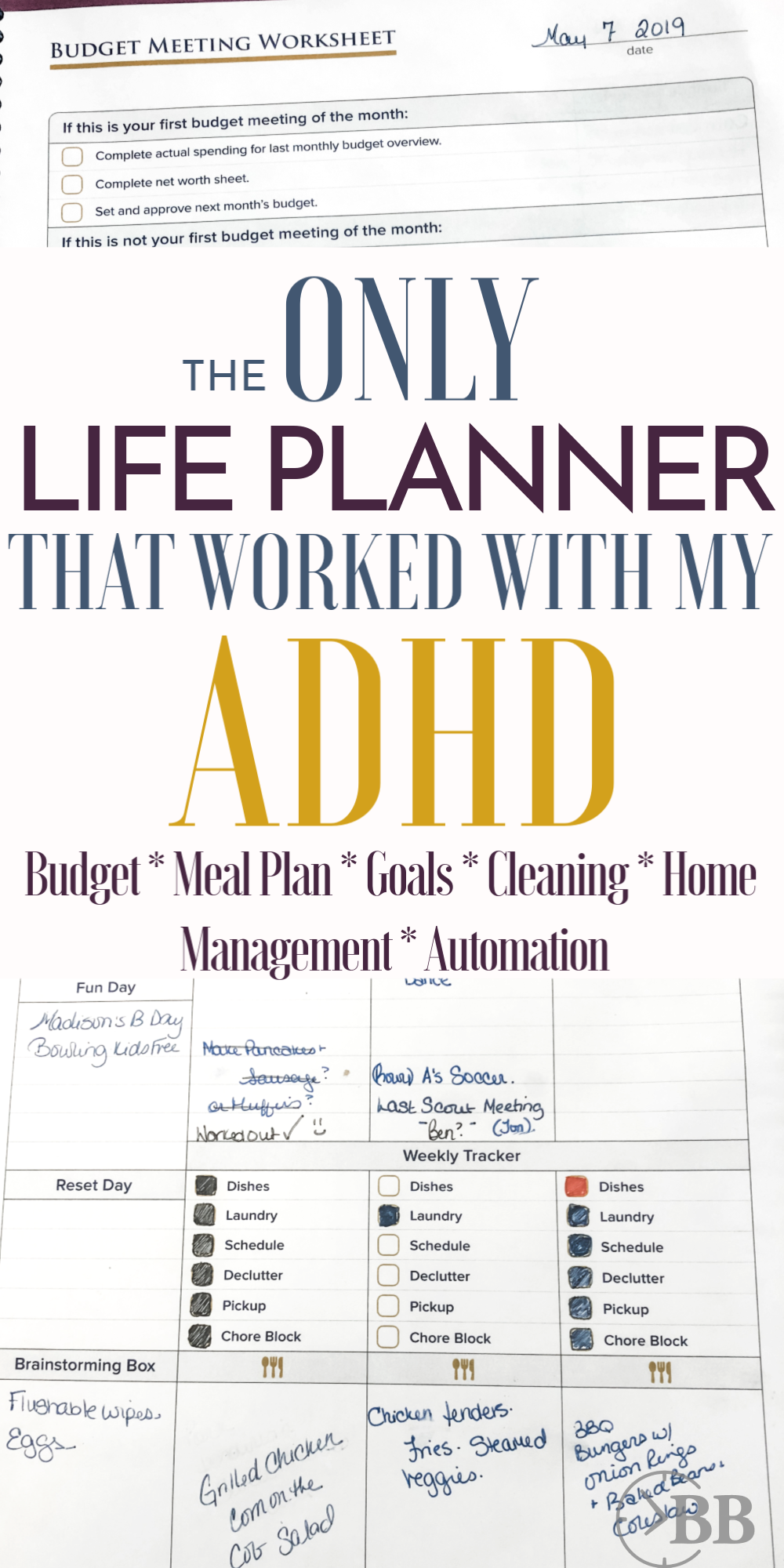 Agree. This is the best daily life planner for busy moms. I have ADHD and this is the only planner that ever worked with my ADHD brain. It handles my daily schedule, automates my home routines, manages the budget, meal planning and helps me with time management.  I think I tried every life planner available in 2019, and this is the only one that worked. I've been using it for about 8 months now. #lifeplanner #adhd