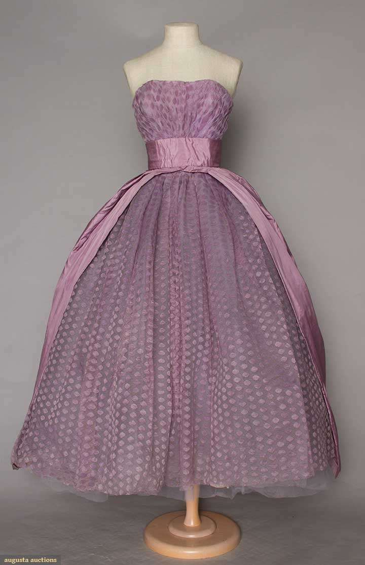 Couture Ball Gown (image 1) | Jacques Heim | mid-1950s | tulle ...
