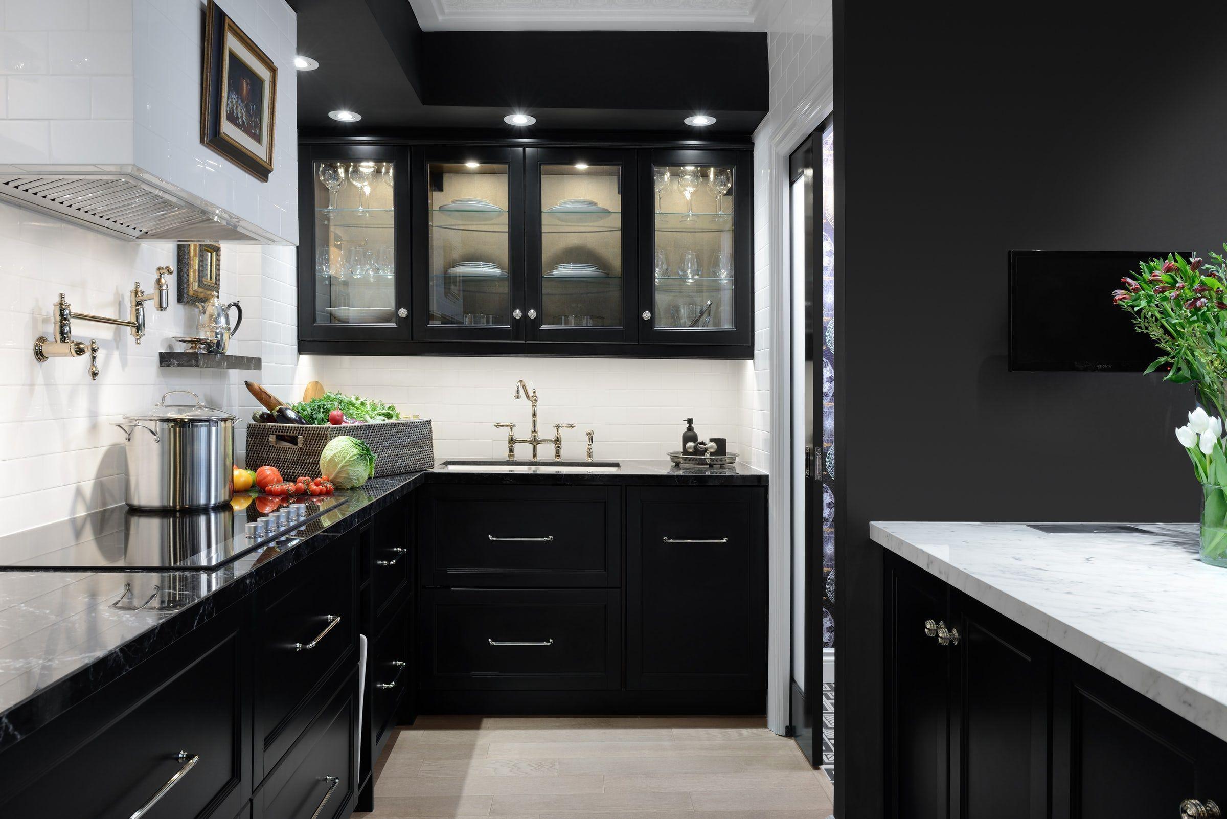 Kitchen Cabinet Trends For 2020 In 2020 Black Kitchen Cabinets Black Kitchens Modern Black Kitchen